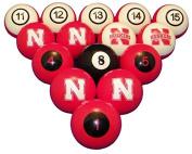 NCAA Nebraska Cornhuskers Numbered Pool Balls Set - College Football Billiards