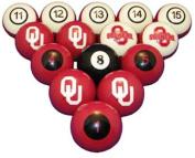 NCAA Oklahoma Sooners Numbered Pool Balls Set - College Football Billiards