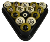 NCAA Wake Forest Demon Deacons Numbered Pool Balls Set - College Billiards