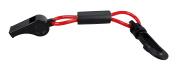 Pactrade Marine Boat Kayak Sports Safety Whistle Float Lanyard Black Red