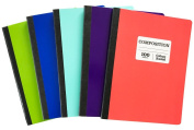 Norcom College Ruled Composition Notebook 100 Sheet 5 Pack 5 Colour