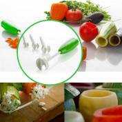 Kicode 5pcs/Set Vegetable Fruit Spiral Cutter Spiralizer Digging Device Corer Stuffed Drill Kitchen Tools