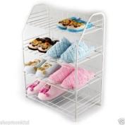 New 4 Tier Shoe Storage Organiser Shelf Rack Boot Holder Stand Unit White