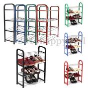 4 Tier Shoe Shoes Display Storage Organiser Rack Stand Shelf Holder Unit Shelves