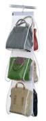 Domopak 6 Pocket Hanging Handbag Bag Wardrobe Storage Organiser Larger Handbags