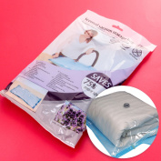 Large Space Saving Scented Vacuum Storage Bag Travel Vac Seal Clothes/shoe Tidy
