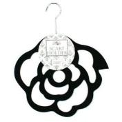 Scarf Hanger, Scarf Rack - Rose Design - Black