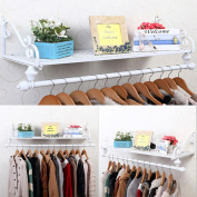 Modern Shabby Chic Wall Mounted Clothes Garment Rail Hanging Rack