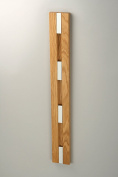 Knax Loca Knax Coat Rack 4 Hooks - Horizontal - Oiled Oak, Hook Grey - Size