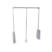 Emuca 7086211 Pull Down Hanging Wardrobe Rail, Adjustable 600-830mm, Chrome