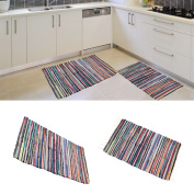 Small Extra Large 100% Cotton Handmade Multi Colour Chindi Rug Area Rag Rugs Mat 80*150 cm