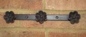 Hook Wall Rack Flower Coat Cast Iron Metal Hallway Tidy Kitchen Shabby Chic New