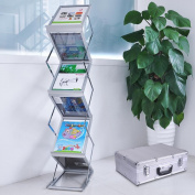 A4 Literature Stand Exhibition Portable Double Side Case Brochure Rack Incd Vat