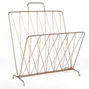 Diamond Raster Magazine Rack - Copper