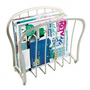 Mdesign Magazine Holder - An Elegant Metal Magazine Organiser For Bathrooms Or