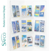 Safco Corner Displays With 18 X 1/3 A4 Pockets - Clear