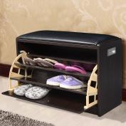 Wooden Ottoman Bench Premium Shoe Storage Cabinet Closet Rack Shelves Furniture