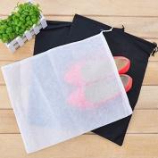 Dealglad® 10pcs Non-woven White Shoe Boot Dustproof Organiser Drawstring Travel