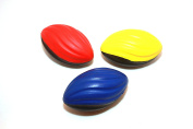 Foam Ball Football Toy - Sports Toy - Kids Football - Three 13cm Spiral Football Includes One of each Colour