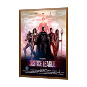 Wood Finish Movie Poster Frame 70cm x 100cm , 3.2cm Aluminium Profile, Front Loading Snap Display, Wall Mount, Professional Series