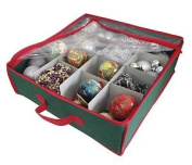 Christmas Storage Carrying Baubles Decorations Bag Green Red 38 X 38 X 13cm
