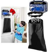 New Laundry Basketball Hoop Door Hanging Fun Overdoor Novelty Bedroom Kids Game