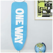 Urban Outfitters Ironing Board Cover - Modern Blue & White Text Design