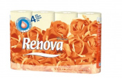 Renova Luxury Cream 4ply Toilet Tissue Paper Roll