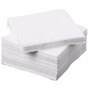 200 X Paper Napkins / Serviettes Plain White Square Wedding/party Soft Tissues