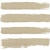 Paint Brush-style Stripes Taupe 3-ply 20 Paper Napkins Serviettes 33x33cm