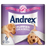 Andrex Puppies On A Roll Toilet Tissue Rolls - 210 Sheets Per Roll