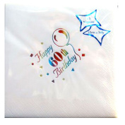 Luxury Happy 60th Birthday Napkins 60th Party Tableware Decorations