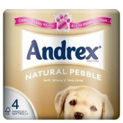 Andrex Natural Pebble Toilet Tissue Rolls - 240 Sheets Per Roll