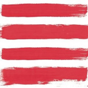 "Paint Brush-style Stripes Red 3-ply 20 Paper Napkins Serviettes 13""x13""–33x33c"