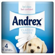 Andrex Classic White Toilet Tissue Rolls - 240 Sheets Per Roll