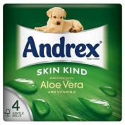 Andrex Skin Kind Enriched Aloe Vera Toilet Tissue Rolls 160 Sheets Per Roll