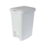 10 Ltr White Spectrum Plastic Pedal Bin Toilet Bin Waste Rubbish Dust Bin