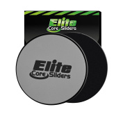2 Core Sliders - #1 Rated Gliding Discs for Exercise on Amazon - Dual Sided for Use on Carpet or Hardwood Floors - Very Effective Core Trainer and Abdominal Exercise Equipment