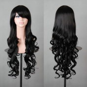 "32"" 80cm Long Hair Heat Resistant Spiral Curly Cosplay Wig"