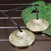 Tibetan esoteric tingshas in Tibetan (Tibetan cymbals) Dragon (Dragon) mini | Tibetan esoteric | instrument | meditation | handmade