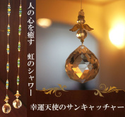 Sun catcher 30mm [natural stone power stone accessories] of the lucky angel