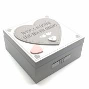 Personalised Love Story Vintage Style Heart Wedding Memory Keepsake Box Wg735-p