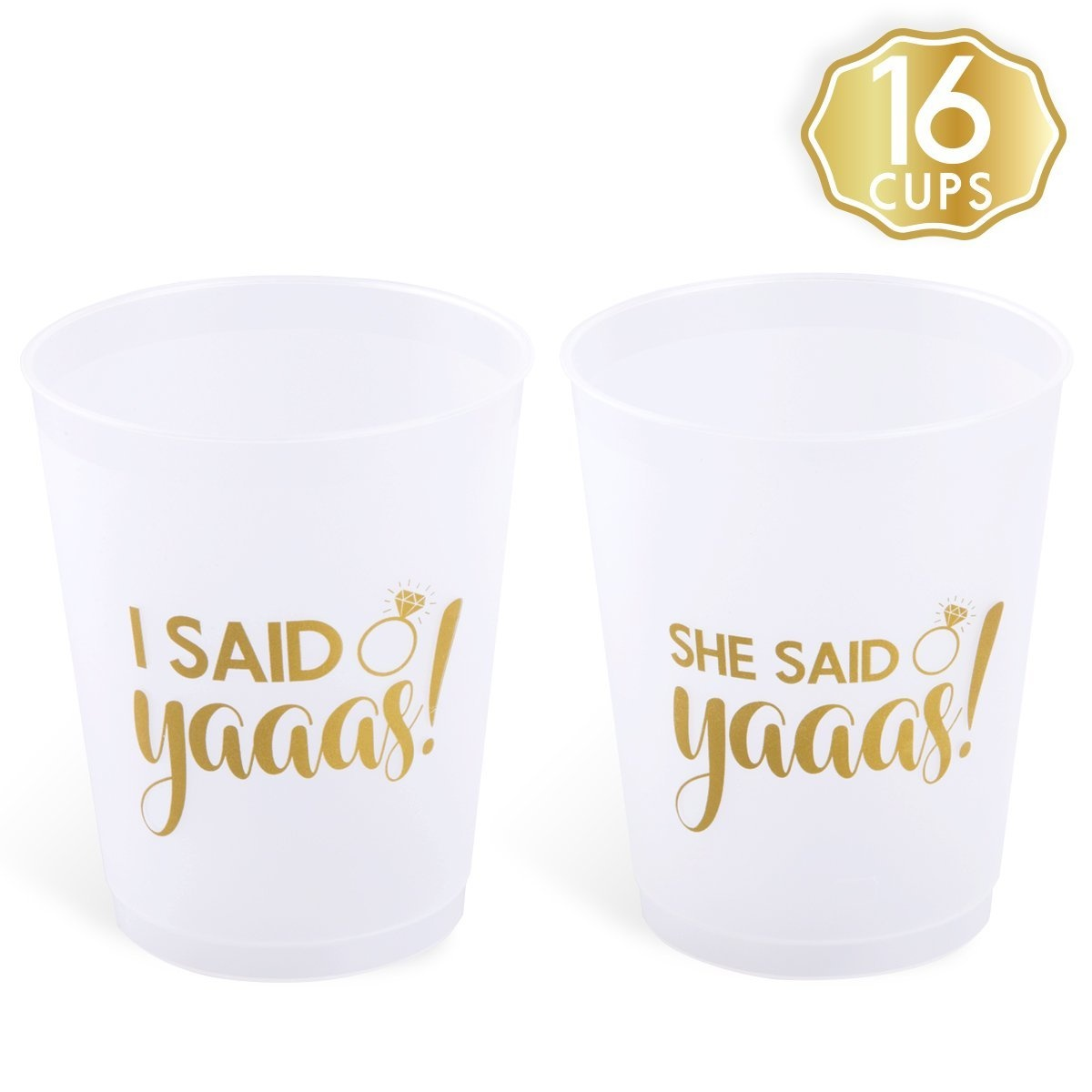 she said yaaas bachelorette party bridal shower cups w bonus i said yaaas style 16 count 470ml engagement party decoration and bride to be gift by