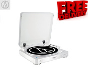 Audio-Technica AT-LP60BT White Wireless Bluetooth Turntable