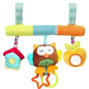 YEAHIBABY Baby Todder Soft Spiral Animal Rattle Hanging Toys Kids Pram Crib Mobile Stroller Toy Gift