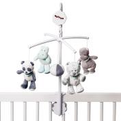 Nattou Musical Nursery Mobile - LouLou Panda, Lea snow leopard and Hippo