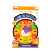 Teaching Puzzle Clock Shape Sorter - Suitable From 18 Months