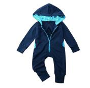 XXYsm Newborn Baby Boys Splice Hooded Jumpsuit Romper Hoodies