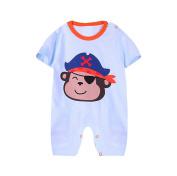 JIEYA Baby Boys Short Sleeve Cartoon Printed Romper