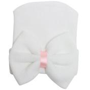 Gloryhonor Cute Newborn Baby Infant Girl Toddler Comfy Bowknot Hospital Cap Beanie Hat